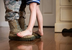 Dancing with daddy before deployment