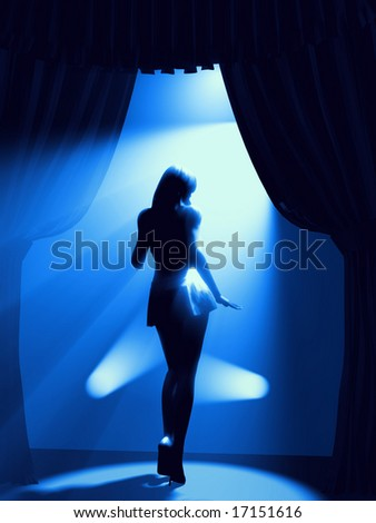 dancing woman on stage