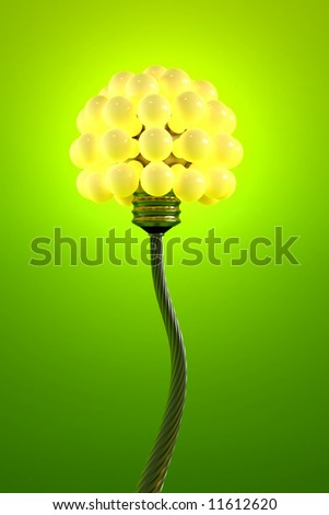 dandelion made from electric bulbs