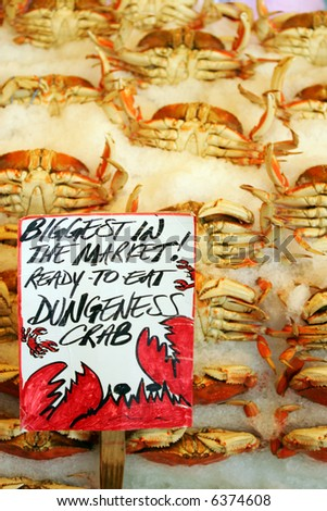 Dangeness crab in famous Pike Market, Seattle