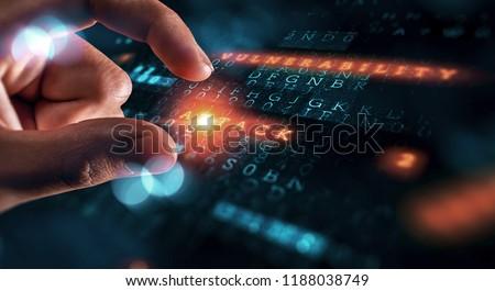 Danger of hack attack Stock photo ©