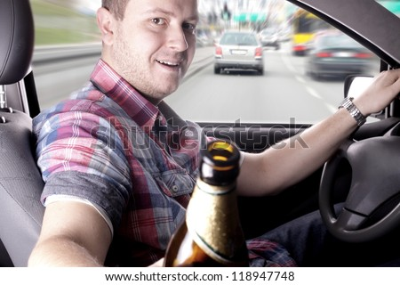 Danger on the road caused by drunken drivers