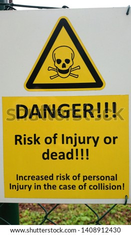 Deadly danger sign on white background  Images and Stock
