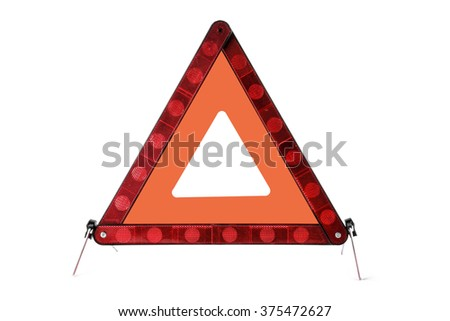 Danger Safety Warning Triangle Sign #375472627