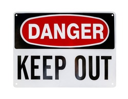 Danger sign, isolated