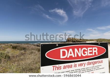 danger sign  the danger sign at ...
