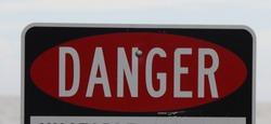 DANGER SIGN UNSTABLE SURFACE KEEP OFF