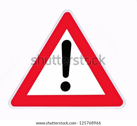 danger signal on a white background #125768966