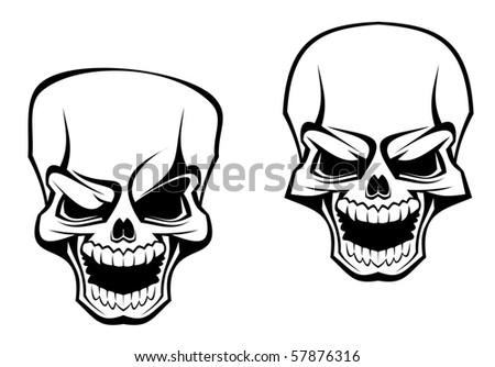 Danger skull as a warning or evil concept - also as emblem. Vector version also available in gallery