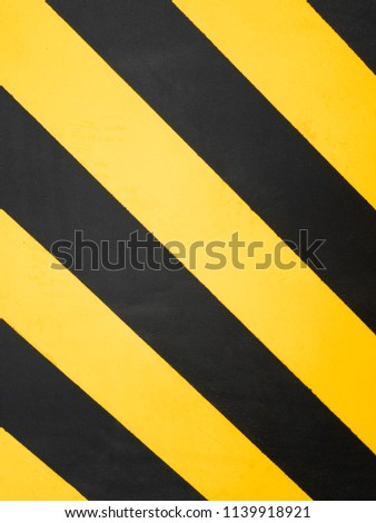 Danger zone. Yellow and Black Warning sign. Pattern, Slanted Splashes copy space. Danger Concept #1139918921