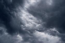 Dangerous rain cloud, storm cloud before a thunderstorm.