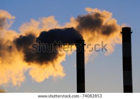 Dangerous toxic CO2 clouds, pollution concpet