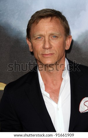 stock photo : Daniel Craig at the