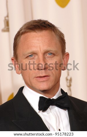 Daniel Craig at the 79th Annual Academy Awards at the Kodak Theatre, Hollywood. February 26, 2007  Los Angeles, CA Picture: Paul Smith / Featureflash