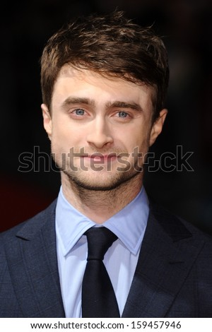 """Daniel Radcliffe arrives for the """"Kill Your Darlings"""" premiere as part of the bfi London Film Festival 2013, at the Odeon West End, London.17/10/2013"""