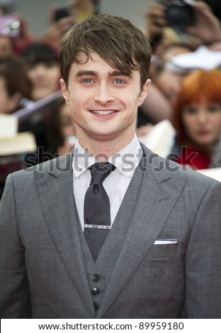 Daniel Radcliffe arriving for the World Premiere of 'Harry Potter & the Deathly Hallows pt2', Trafalgar Square, London. 07/07/2011  Picture by: James McCauley / Featureflash