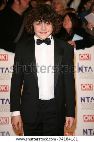 Daniel Roche arriving for the National Television Awards, O2, London. 25/01/2012 Picture by: Alexandra Glen / Featureflash