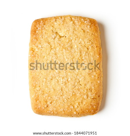 Danish butter cookie isolated on white background, top view Foto stock ©