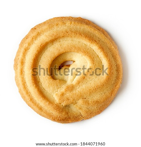 Danish butter cookie isolated on white background, top view Сток-фото ©
