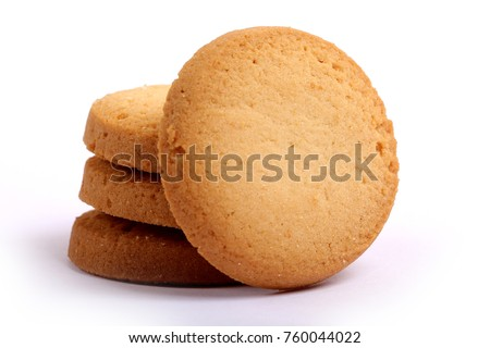 Danish butter cookies, butter cookies on white #760044022