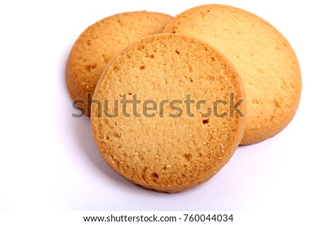 Danish butter cookies, butter cookies on white #760044034