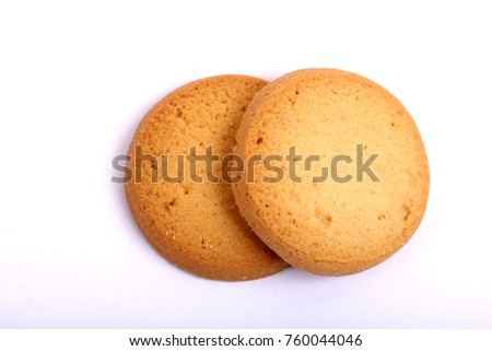 Danish butter cookies, butter cookies on white #760044046