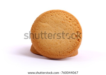 Danish butter cookies, butter cookies on white #760044067