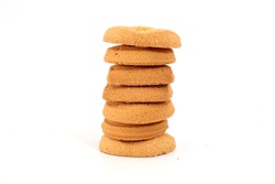 danish butter cookies stack on white