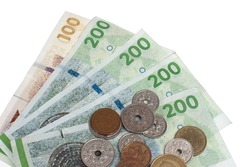 Danish coins and bank notes