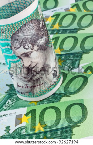 danish crowns. currency from denmark in europe. â?¬ banknotes and money.