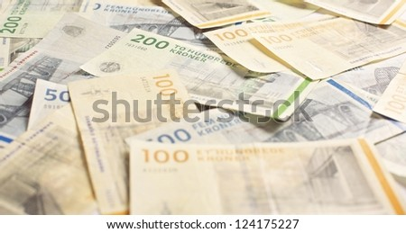 Danish currency in 100 and 200 denominations