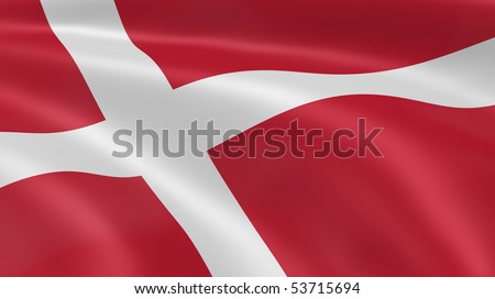 Danish flag in the wind. Part of a series.