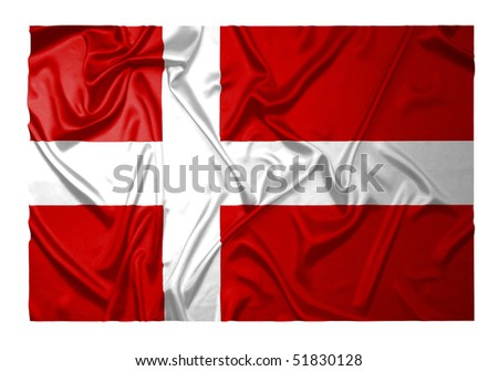 Danish flag with ripples #51830128