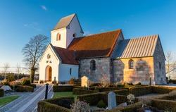 Danish village church at Dall, Aalborg
