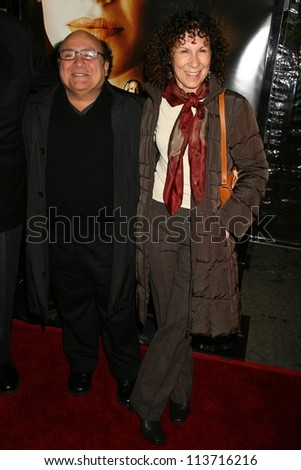 """Danny DeVito and Rhea Perlman at the Los Angeles Premiere of """"Freedom Writers"""". Mann Village Theatre, Westwood, CA. 01-04-07"""