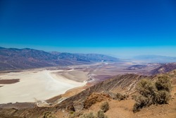 Dante's View is a viewpoint terrace at 1,669 m (5,476 ft) height, on the north side of Coffin Peak, along the crest of the Black Mountains, overlooking Death Valley.