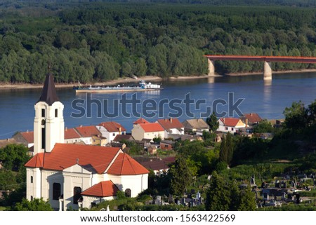 Danube bridge at Batina, Croatia Foto stock ©