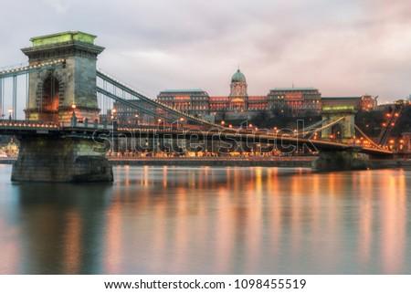 Danube Budapest bridge #1098455519