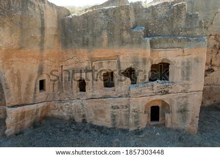 Dara is a historical ancient city located on the Mardin. Mesopotamia Dara Ancient City Ruins. (Mardin - Turkey) Stock fotó ©