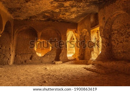 Dara ruins is an ancient city consisting of many interconnected caves in rocks. Stock fotó ©