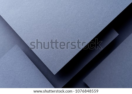 Dark abstract background inspired by material design using cardboard and paper #1076848559
