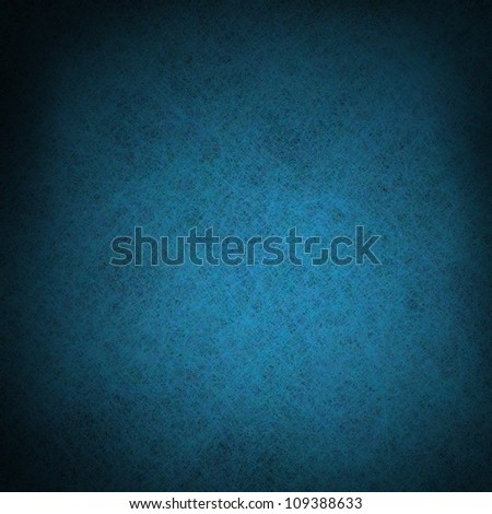 dark abstract blue background with black vignette border frame and vintage grunge background texture design with center spotlight and solid blue color for web template background or brochure layout