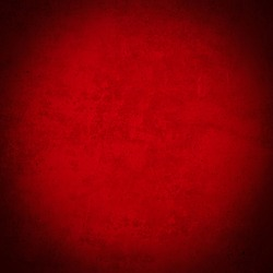 Dark abstract grunge red color colored painted watercolor stone concrete paper texture background square, with dark vignette, top view