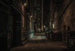 Dark alley, Chicago