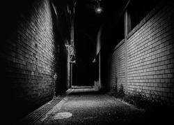 dark alley path walk way