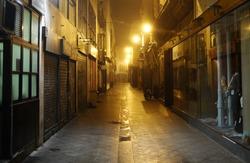 dark alley, Seville, Spain