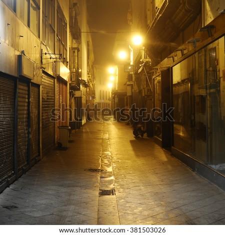 dark alley, Seville, Spain #381503026