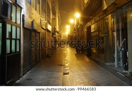 dark alley, Seville, Spain