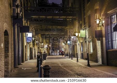 dark alley   stock image....