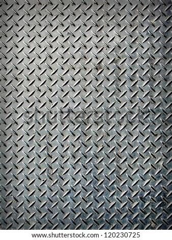 Dark aluminum steel sheer with lines
